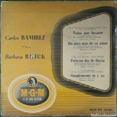Discos de vinilo: VINILO CARLOS RAMÍREZ - BÁRBARA RUICK. Lote 189743075