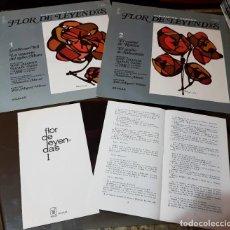 Discos de vinilo: FLOR DE LEYENDAS 1 Y 2 - ALEJANDRO CASONA - DISCOS LA PALABRA - EDITORIAL AGUILAR - CON LIBRETOS. Lote 189750097