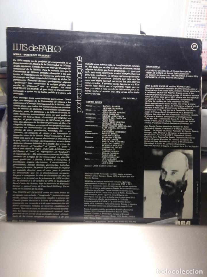 Discos de vinilo: LP LUIS DE PABLO & GRUPO KOAN : PORTRAIT IMAGINE - Foto 2 - 189754327