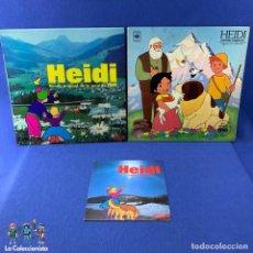Discos de vinilo: LOTE 3 LP ´S HEIDI - HISTORIA COMPLETA -1975 +BANDA ORIGINAL DE LA SERIE -1975 + CANTA EN ESPAÑOL 74. Lote 189757697