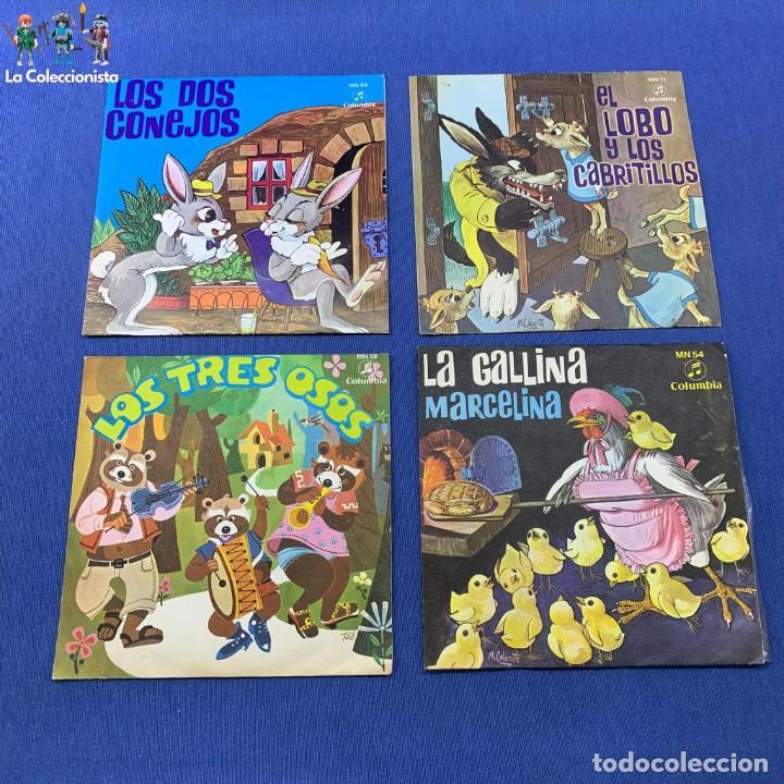 LOTE 3 SINGLES - LOS 2 CONEJOS + LA GALLINA MARCELINA +LOS 3 OSOS+EL LOBO Y LOS CABRITILLOS - 60´S (Música - Discos - Singles Vinilo - Música Infantil)