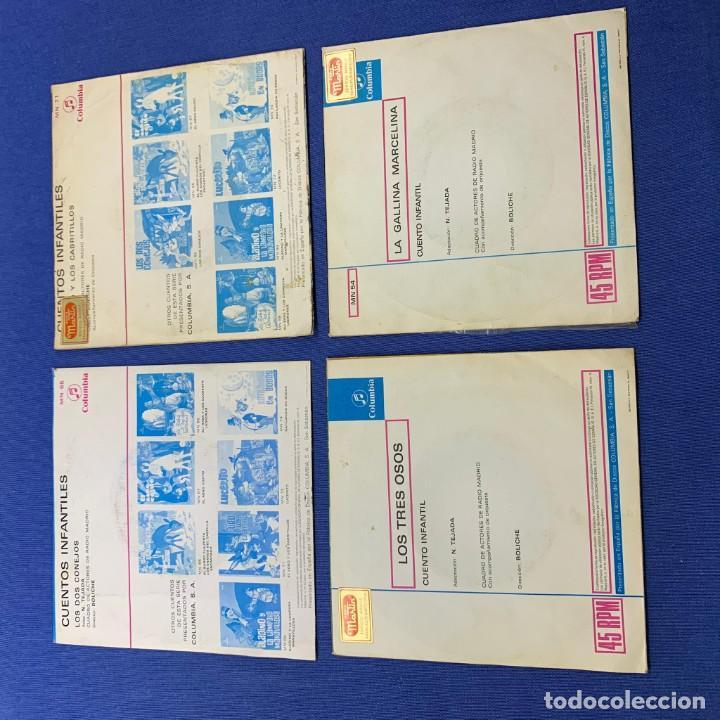 Discos de vinilo: LOTE 3 SINGLES - LOS 2 CONEJOS + LA GALLINA MARCELINA +LOS 3 OSOS+EL LOBO Y LOS CABRITILLOS - 60´S - Foto 2 - 189758278