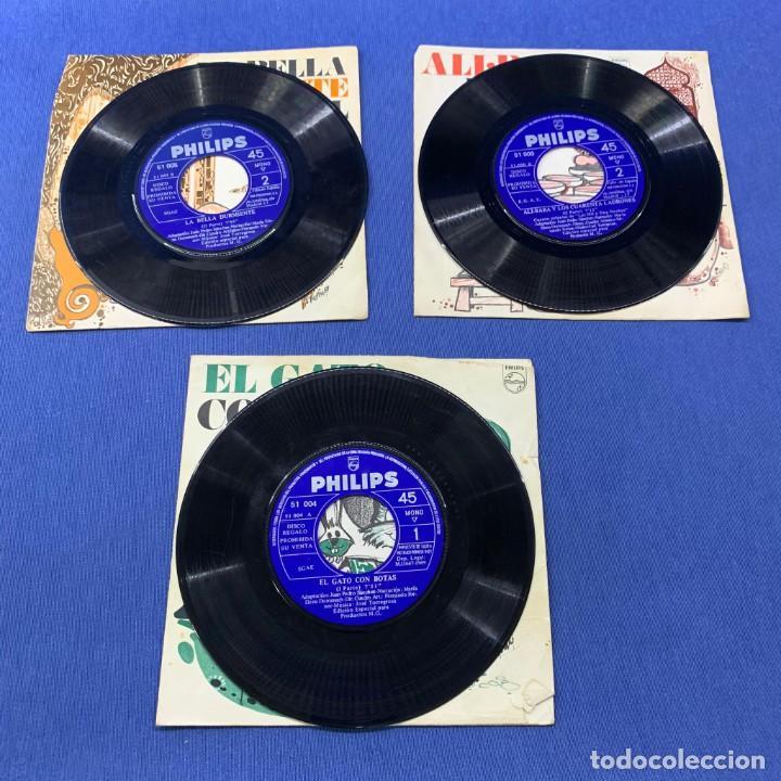 Discos de vinilo: LOTE 3 SINGLES -EL GATO CON BOTAS + LA BELLA DURMIENTE DEL BOSQUE +ALI.BABA Y LOS 40 LADRONES- 60´S - Foto 3 - 189758501