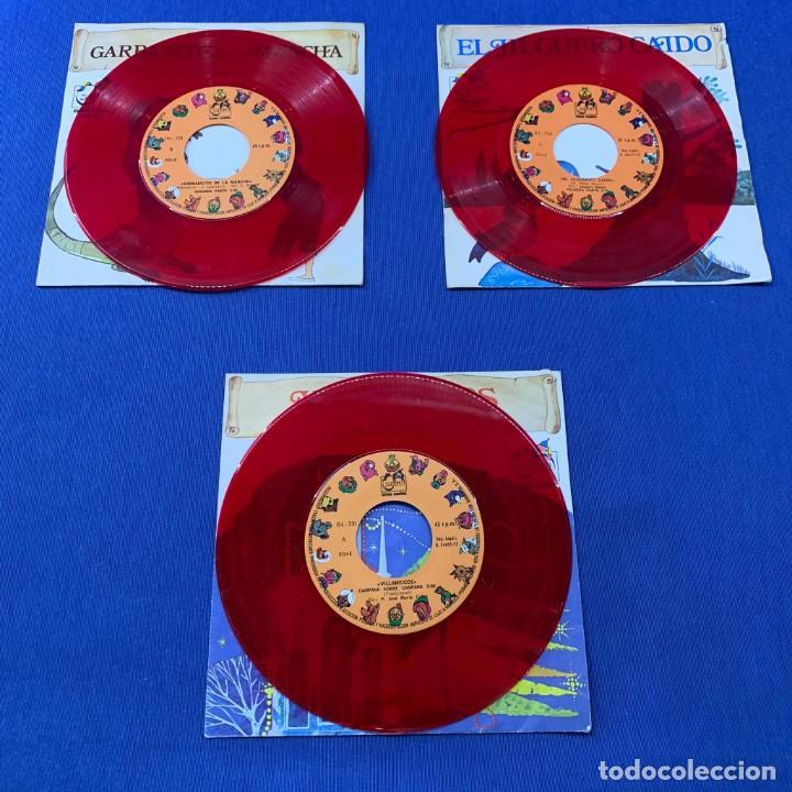 Discos de vinilo: LOTE 3 SINGLES -GARBANCITO DE LA MANCHA+VILLANCICOS + EL JILGUERO CAIDO - AÑO 1972 - ZAFIRO - Foto 3 - 189758931