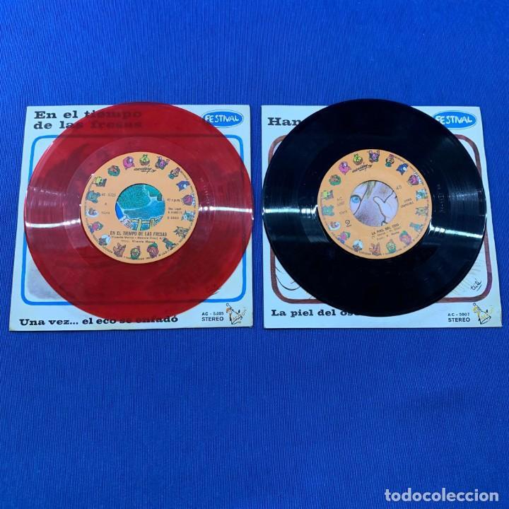 Discos de vinilo: LOTE 2 SINGLES - EN EL TIEMPO DE LAS FRESAS + HANS Y SU AMIGO - FESTIVAL - AÑO 1972 - Foto 3 - 189759170