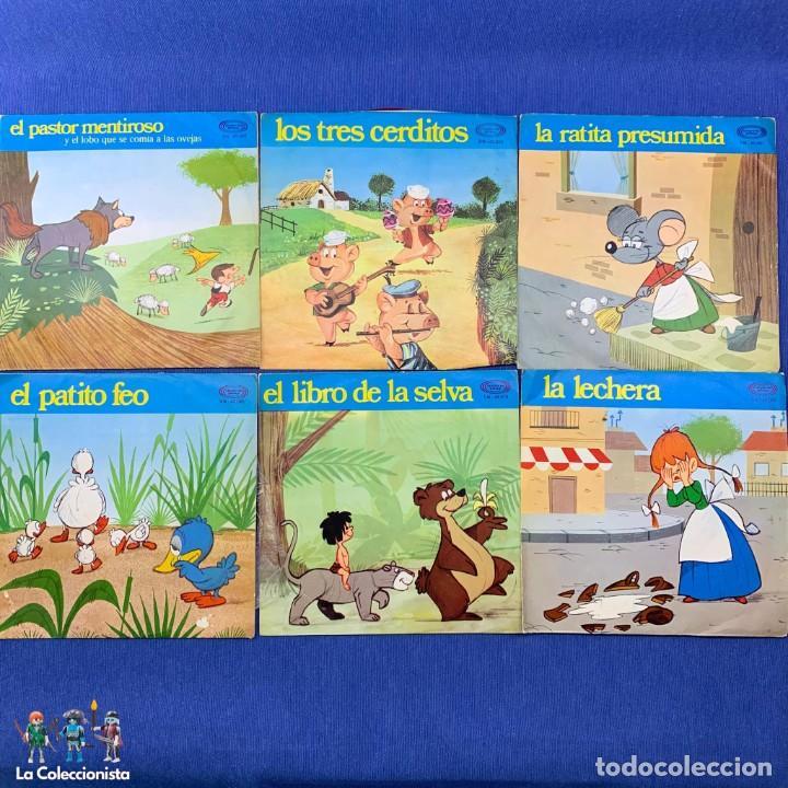 LOTE 6 SINGLES - CUENTOS INFANTILES - MOVIE PLAY (Música - Discos - Singles Vinilo - Música Infantil)