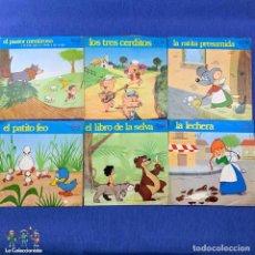 Discos de vinilo: LOTE 6 SINGLES - CUENTOS INFANTILES - MOVIE PLAY. Lote 189759775