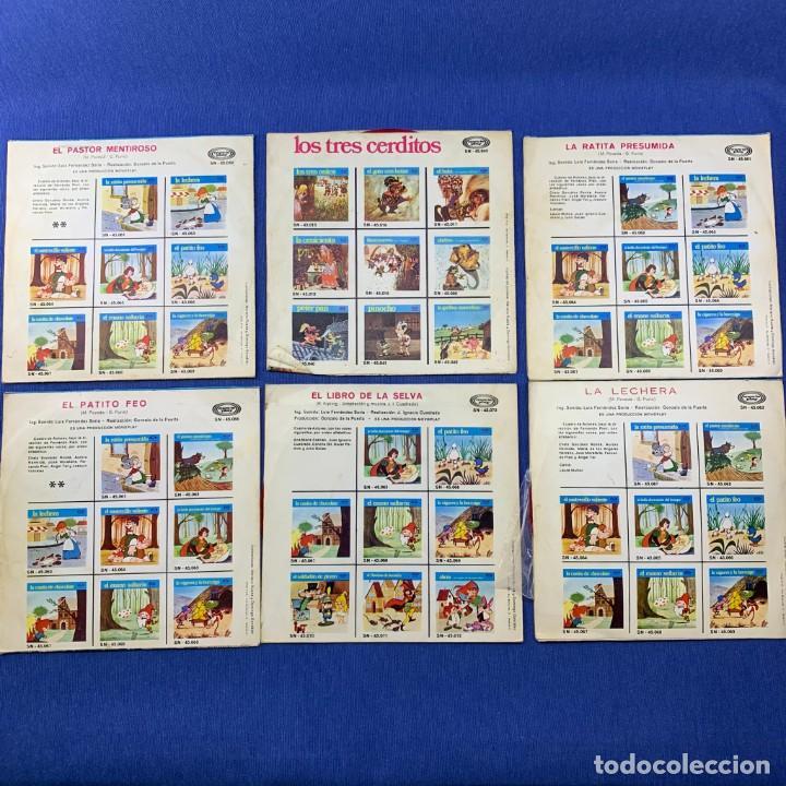 Discos de vinilo: LOTE 6 SINGLES - CUENTOS INFANTILES - MOVIE PLAY - Foto 2 - 189759775