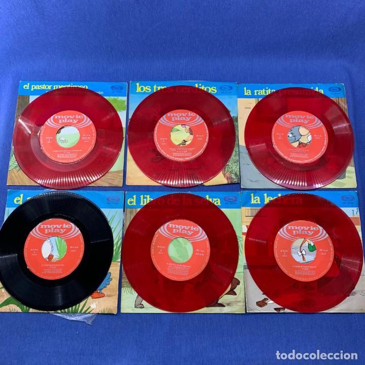 Discos de vinilo: LOTE 6 SINGLES - CUENTOS INFANTILES - MOVIE PLAY - Foto 3 - 189759775