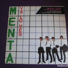 Discos de vinilo: MENTA EP EMI 1980 - YA LO VES +3 EDICION LIMITADA 5000 COPIAS - NEW WAVE POP ROCK - + FOTO PROMO. Lote 189760977