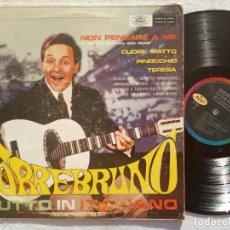 Discos de vinilo: TORREBRUNO - TUTTO IN ITALIANO - LP MEXICANO - MUSART - CON DEDICATORIA Y FIRMA - SAN REMO. Lote 189773967