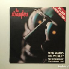 Discos de vinilo: THE STRANGLERS – WHO WANTS THE WORLD? - THE MENINBLACK (WAITING FOR 'EM) LIMITED EDITION UK 1980. Lote 189780693