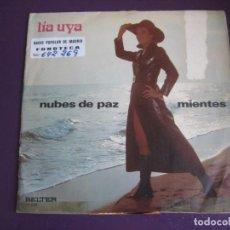 Disques de vinyle: LIA UYA SG BELTER 1971 - NUBES DE PAZ / MIENTES - POP PSICODELIA 70'S . Lote 189782598