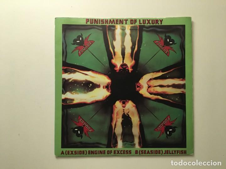 PUNISHMENT OF LUXURY ?– ENGINE OF EXCESS - JELLYFISH UK 1979 UNITED ARTISTS RECORDS (Música - Discos - Singles Vinilo - Punk - Hard Core)