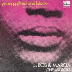 Discos de vinilo: BOB AND MARCIA* / THE JAY BOYS ‎– YOUNG, GIFTED AND BLACK FONTANA 1970. Lote 189805946