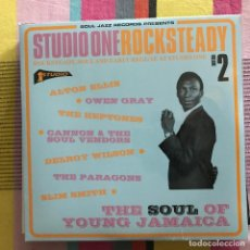 Discos de vinilo: VV.AA. - STUDIO ONE ROCKSTEADY VOLUME 2 - LP DOBLE SOUL JAZZ 2017 NUEVO. Lote 189809100