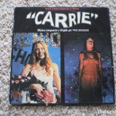Discos de vinilo: LP. CARRIE. TERROR. AÑO 1977. LA CARPETA ESTA TOCADA. Lote 189822888