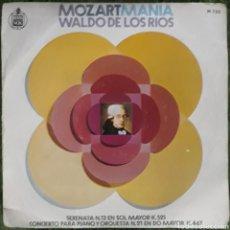 Discos de vinilo: VINILO WALDO DE LOS RÍOS MOZARTMANIA. Lote 189825593