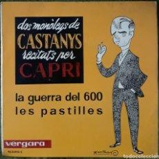 Discos de vinilo: DOS MONOLEGS DE CASTANYS RECITATS PER CAPRI. Lote 189879956