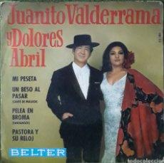 Discos de vinilo: VINILO JUANITO VALDERRAMA Y DOLORES ABRIL. Lote 189884638