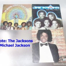 Discos de vinilo: THE JACKSONS & MICHAEL JACKSON - LOTE 3 VINILOS. Lote 189893813