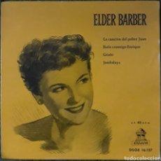 Discos de vinilo: VINILO ELDER BARBER LA CANCIÓN DEL POBRE JUAN. Lote 189895625