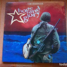 Disques de vinyle: LP TOM ROBINSON. HOPE AND GLORY. CASTAWAY RECORDS, 1984. Lote 189896888