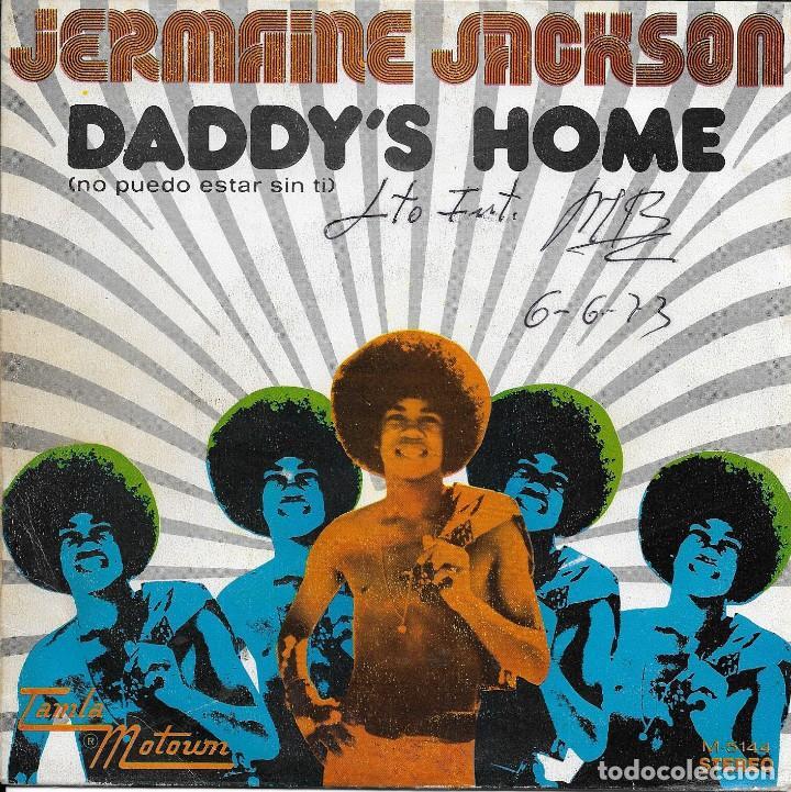 JERMAINE JACKSON DADDY'S HOME TAMLA MOTOWN 1973 (Música - Discos - Singles Vinilo - Funk, Soul y Black Music)