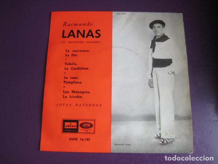 RAIMUNDO LANAS - EL RUISEÑOR NAVARRO - JOTAS NAVARRAS EP EMI 1958 - JOTA NAVARRA - (Música - Discos de Vinilo - EPs - Country y Folk)