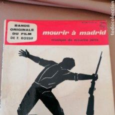 Discos de vinilo: MORIR EN MADRID EP PELÍCULA FRANCESA GUERRA CIVIL. Lote 189932240