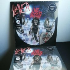 Discos de vinilo: SLAYER - LIVE UNDEAD - LP 180GR + LYRIC + PHOTO INSTERT AND POSTER - NEW&SEALED. Lote 189934121