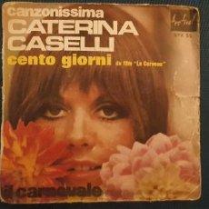 Discos de vinilo: CATERINA CASELLI – CENTO GIORNI DU FILM LE CERVEAU SELLO: DISQUES FESTIVAL – SPX 55 FORMATO: VIN. Lote 189951835