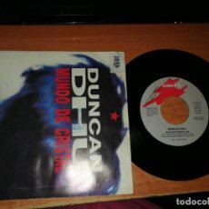 Discos de vinilo: DUNCAN DHU MUNDO DE CRISTAL SINGLE VINILO PROMO GATEFOLD GASA MIKEL ERENTXUN DIEGO VASALLO. Lote 189959640