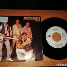 Discos de vinilo: HOMBRES G RITA / VOY A HABLAR CON EL SINGLE VINILO DEL AÑO 1990 DAVID SUMMERS CONTIENE 2 TEMAS. Lote 189960338