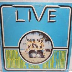 Discos de vinilo: LP-LIVE BARRADOS- STEEL ORCHESTRA EN FUNDA ORIGINAL 1977. Lote 190008137