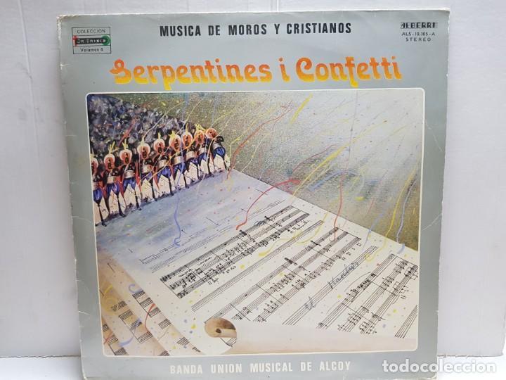 LP-MOROS Y CRISTIANOS- SERPENTINES I CONFETTI EN FUNDA ORIGINAL 1982 (Música - Discos - LP Vinilo - Orquestas)