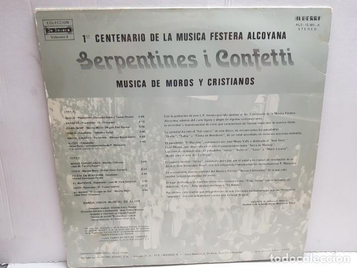Discos de vinilo: LP-MOROS Y CRISTIANOS- SERPENTINES i CONFETTI en funda original 1982 - Foto 2 - 190010828