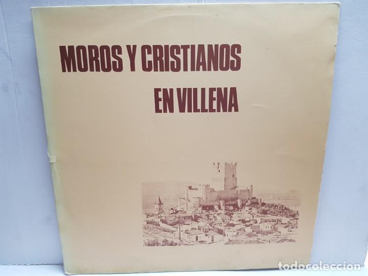 LP-MOROS Y CRISTIANOS- EN VILLENA EN FUNDA ORIGINAL 1974 (Música - Discos - LP Vinilo - Orquestas)