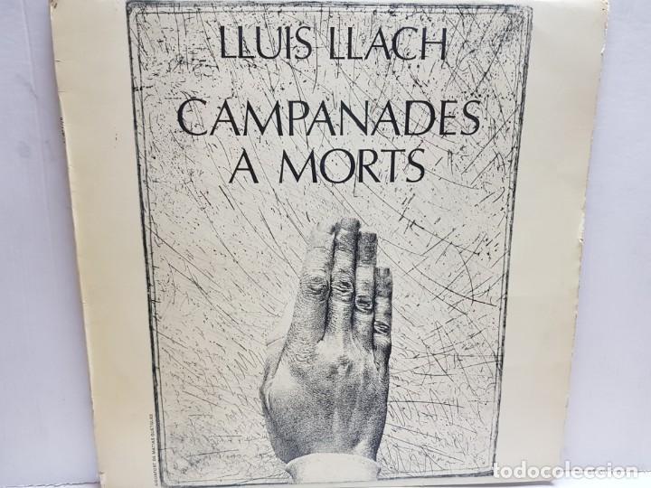 LP-LLUIS LLACH-CAMPANADES A MORTS EN FUNDA ORIGINAL 1977 (Música - Discos - LP Vinilo - Solistas Españoles de los 70 a la actualidad)