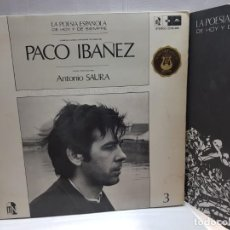 Discos de vinilo: LP-PACO IBAÑEZ-LA POESIA ESPAÑOLA DE AYER Y DE SIEMPRE EN FUNDA ORIGINAL 1970. Lote 190013127