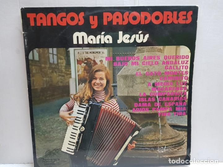 LP-MARIA JESUS-TANGOS Y PASODOBLES EN FUNDA ORIGINAL 1976 (Música - Discos - LP Vinilo - Solistas Españoles de los 70 a la actualidad)