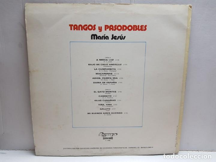 Discos de vinilo: LP-MARIA JESUS-TANGOS Y PASODOBLES en funda original 1976 - Foto 2 - 190014145
