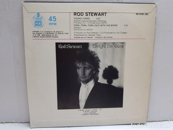 Discos de vinilo: SINGLE-ROD STEWART-YOUNG TURKS en funda original año 1982 - Foto 2 - 190016225