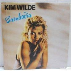 Discos de vinilo: SINGLE-KIM WILDE-CAMBODIA EN FUNDA ORIGINAL AÑO 1982. Lote 190016485