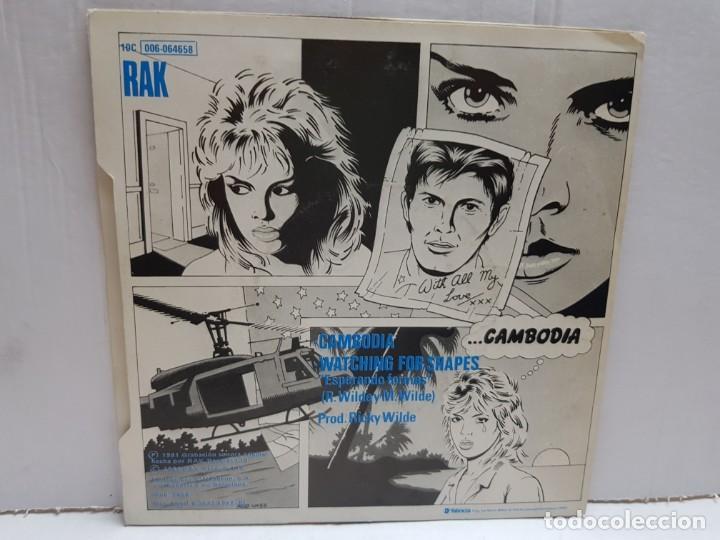 Discos de vinilo: SINGLE-KIM WILDE-CAMBODIA en funda original año 1982 - Foto 2 - 190016485