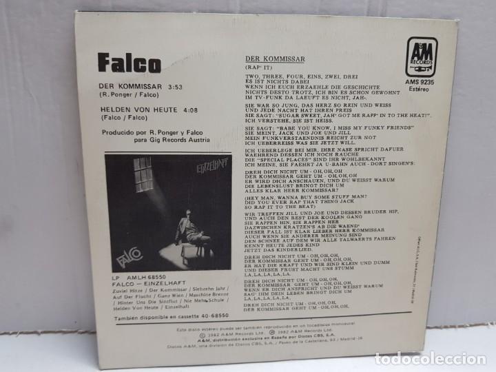 Discos de vinilo: SINGLE-FALCO-DER KOMMISSAR en funda original año 1982 - Foto 2 - 190016640