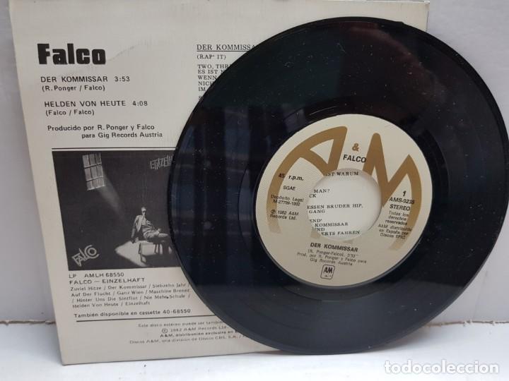 Discos de vinilo: SINGLE-FALCO-DER KOMMISSAR en funda original año 1982 - Foto 3 - 190016640