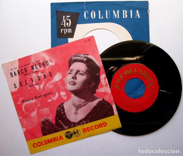 AMÁLIA RODRIGUES - BARCO NEGRO / SOLIDAO - SINGLE COLUMBIA 1956 JAPAN (EDICIÓN JAPONESA) BPY (Música - Discos - Singles Vinilo - Étnicas y Músicas del Mundo)