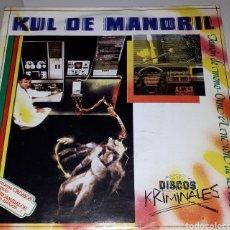 Discos de vinilo: SINGLE DE VINILO. KUL DE MANDRIL. JAMON DE MONO.DISCOS KRIMINALES.MOVIDA MADRILEÑA.MANOLO GARCIA. Lote 190035998
