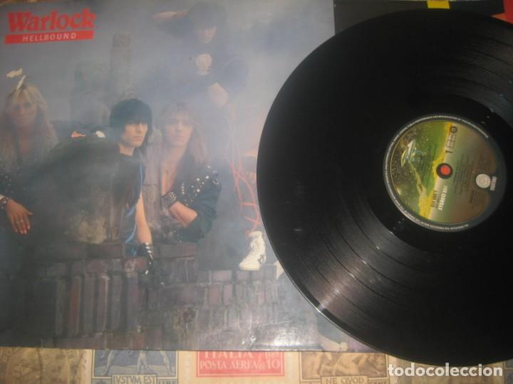 WARLOCK HELLBOUND + ENCARTE(1985-PHONOGRAM) OG NETHERLANDS LEA DESCRIPCION (Música - Discos - LP Vinilo - Heavy - Metal)